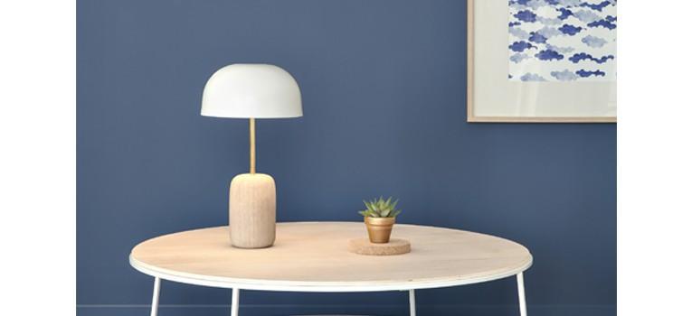 Lampe table blanche design
