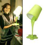 Lampe de chevet peinture