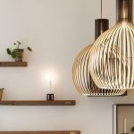 Lampadaire suspendu salon