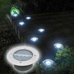 Eclairage exterieur solaire lampadaire