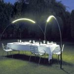 Lampe exterieur solaire design