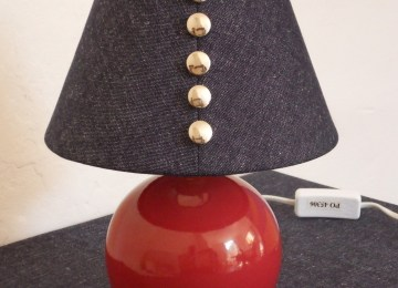 Lampe de chevet baroque rouge