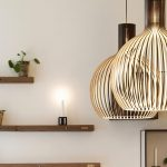 Lampe design salon suspendu