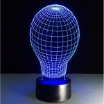 Lampe de chevet tactile forme ampoule