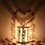 Lampe de chevet en bois personnalisée