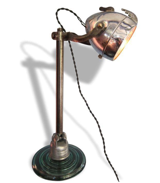 Lampe bureau design rouge