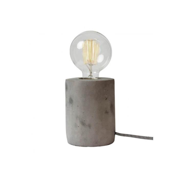 Lampe de chevet pied beton