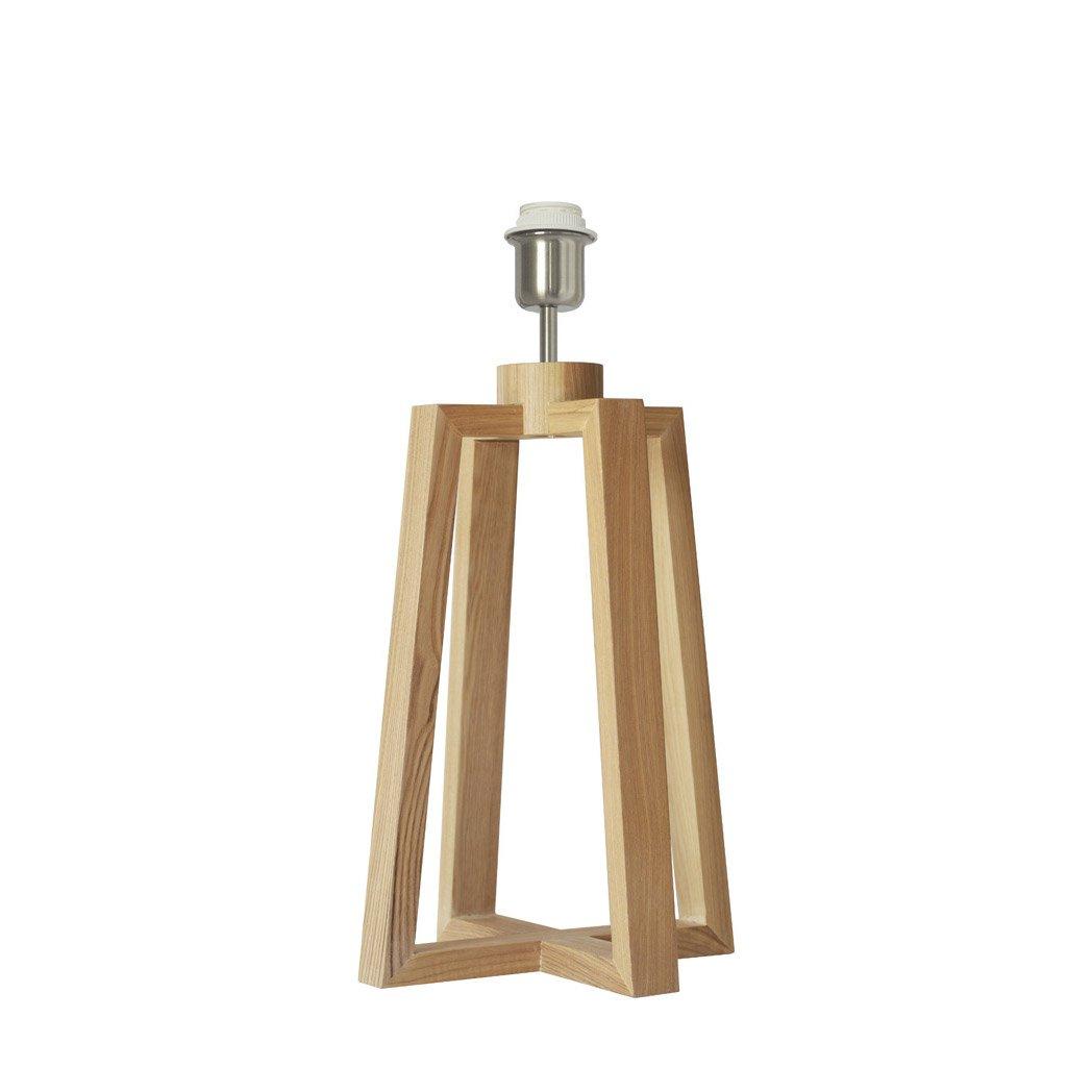 Pied lampe de chevet bois