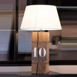 Lampe design bois metal