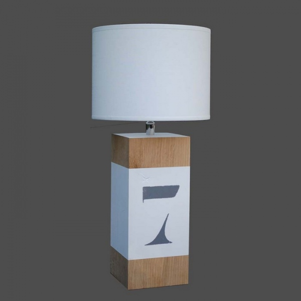 Lampe design pied bois