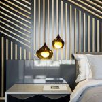 Lampe design chambre à coucher