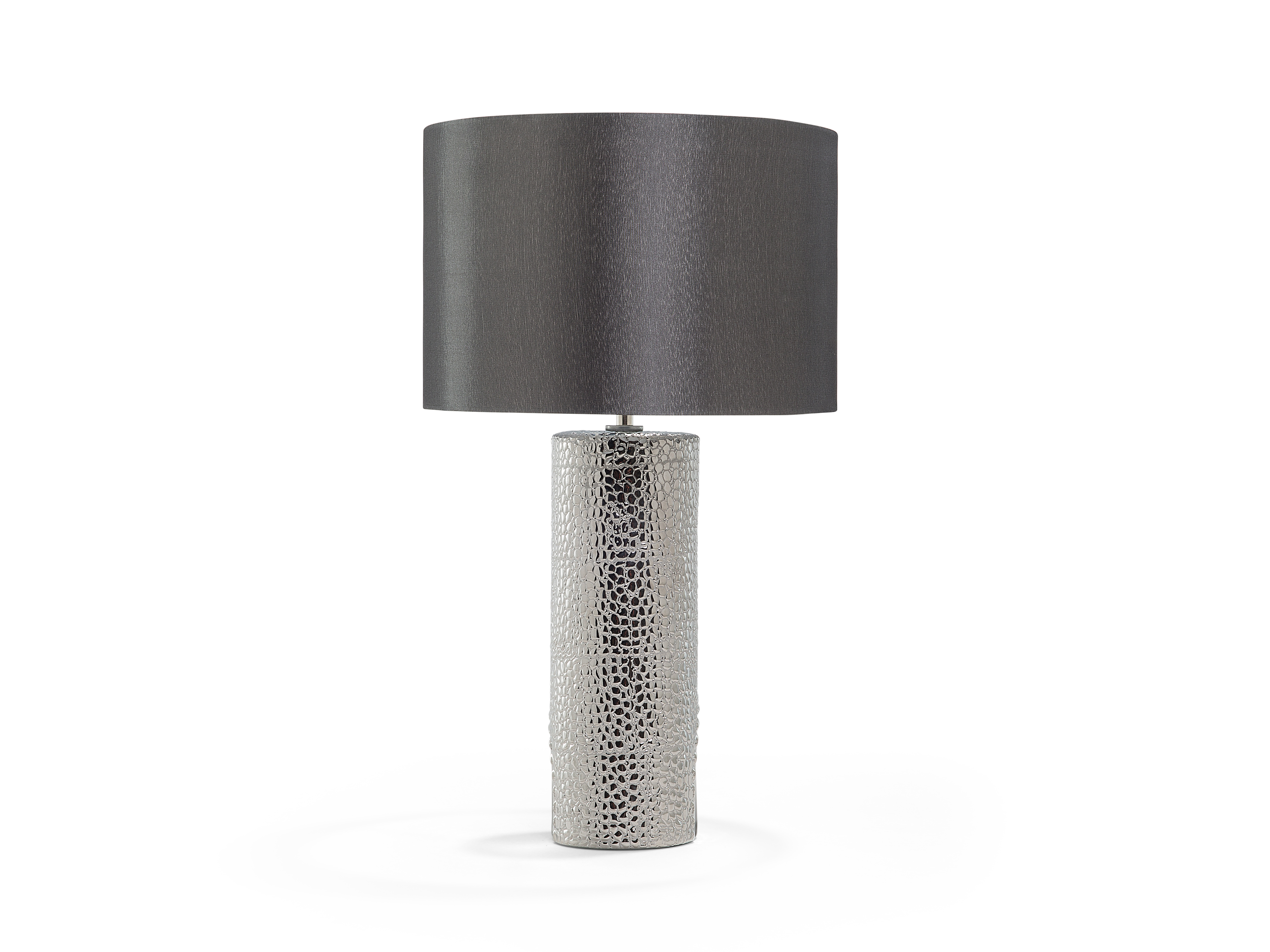 Lampe de chevet design argent
