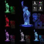 Lampe de chevet avec statue